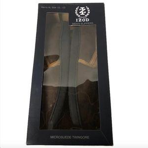 IZOD Mens Micro Suede Brown Slippers Sz XL 11 12